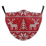 eBoutik – Disegni natalizi brutti – Maschere in stoffa con fessura filtrante – Riutilizzabili & lavabili e traspiranti (renne e alberi)