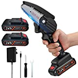 Aniston Mini Chainsaw, 4Inch Rechargeable Lithium Chainsaw with 2...