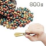 GEGEQUNAERYA Fionda Munizion Catapulta Slingshot Ammo Hard Clay Ball Slingshot Palla Beads Palla Fango Sicurezza Catapulta Target Tiro Miglior Regalo per Gli Amanti della Fionda (A,800 PCS/2*Pack)