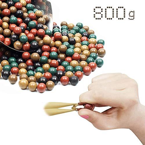 GEGEQUNAERYA Fionda Munizion Catapulta Slingshot Ammo Hard Clay Ball Slingshot Palla Beads Palla Fango Sicurezza Catapulta Target Tiro Miglior Regalo per Gli Amanti della Fionda (A,800 PCS 2*Pack)
