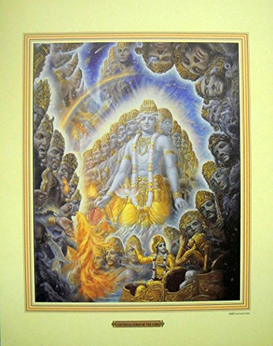 "India Crafts Lord Krishna Shows Universal Form to Arjuna/Hindu God Poster - Reprint on Paper (Unframed : Size 11"" x 14"" inches)"