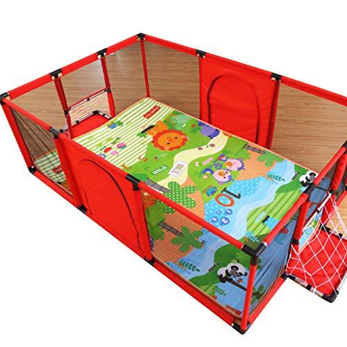 Parc bebe Très Grand Parc pour bébé pour Les Jumeaux, Parc pour Enfants avec Tapis, Tapis Oxford, 120 × 180 × 62 cm