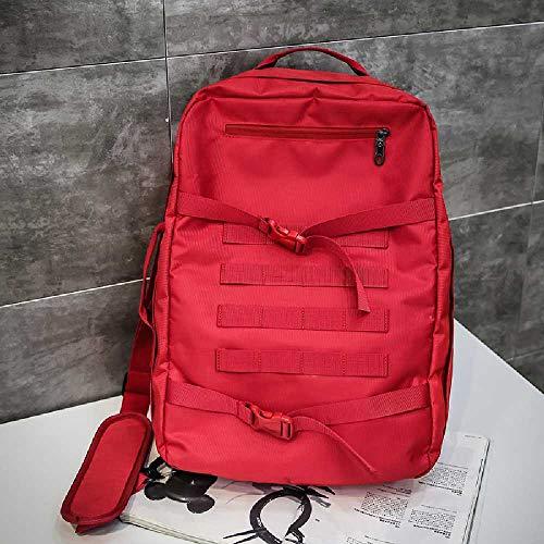 ghjg Sac à Dos Occasionnel Grande Capacité High School Student Bag Men's Travel Backpack Backpack Backpack Backpack Homme Rouge -Quads