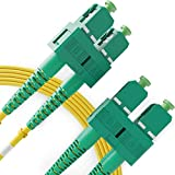 Cable de Fibra ├Уptica SC a SC 2M Monomodo Duplex - APC/APC - 9/125um OS1 (LSZH) - Latiguillo Doble Fibra ├Уptica - Beyondtech PureOptics Cable Series