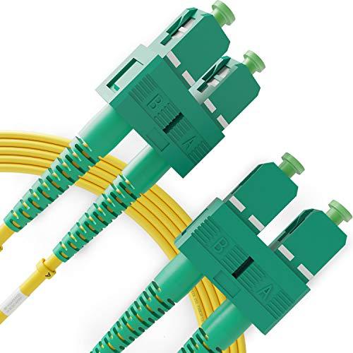 Cable de Fibra Óptica SC a SC 2M Monomodo Duplex - APC/APC...