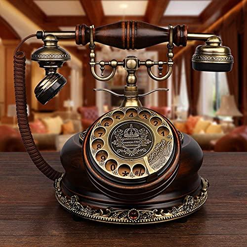 SGSG Teléfono Retro, teléfono Antiguo, teléfono Fijo, teléfono Retro, teléfono Fijo con Cable, LCD, Doble Tono de Llamada A