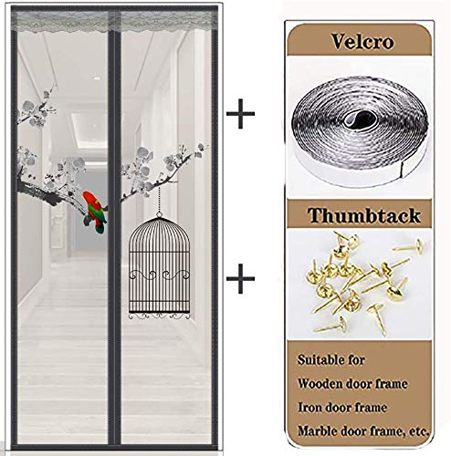 For Balcony and Patio Doors 0.95 x 2.20 m White tesa 55198-00000-00 Insect Stop Lamella Door STANDARD Easy To Use Insect Screen