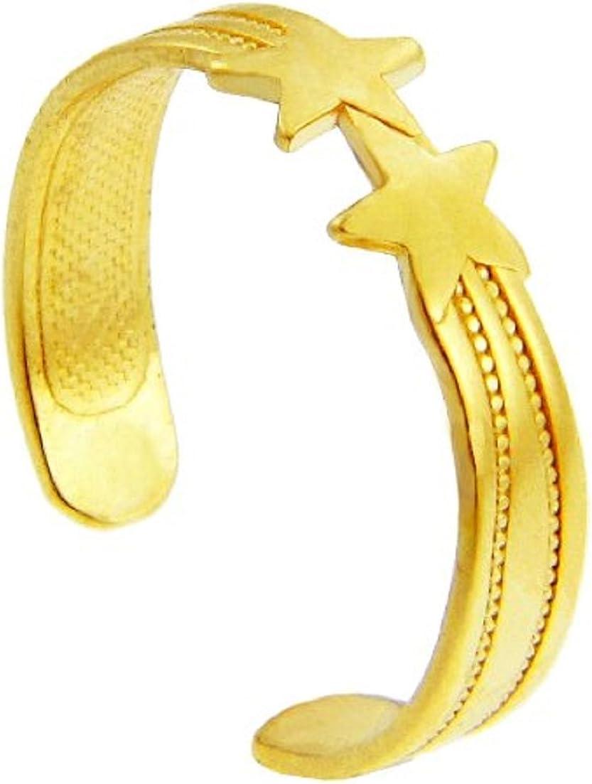 Yellow Gold Stars Toe Ring (10K Gold)