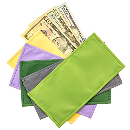 Magnetic Cash Budgeting Envelopes, Set of 5, Divide. Spend Save. Budget Your Way to Savings (Fancy Funds)