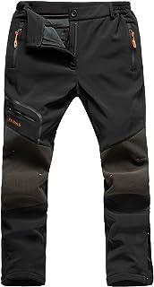 Postropaky Women's Ski Snow Pants Outdoor Waterproof Insulated Fleece Lined Hiking Softshell Pants