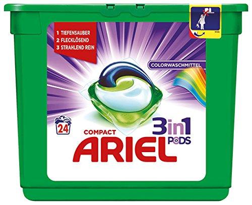 Ariel - Compact 3-in-1 pods, kleurwasmiddel tabs