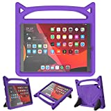 iPad 10.2/10.5 Case for Kids,iPad 7th/8th Generation(10.2',2019/2020) / 10.5' Air 3 / Pro 10.5 Case,SUPLIK Durable Shockproof Protective Handle Stand Cover, Purple