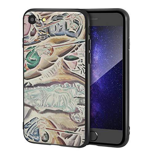 Berkin Arts Konstantinos Parthenis Custodia per iPhone SE(2020)/iPhone 7/8/per Cellulare Arti/Stampa giclée a UV sulla Cover del Telefono(Los Anastases)