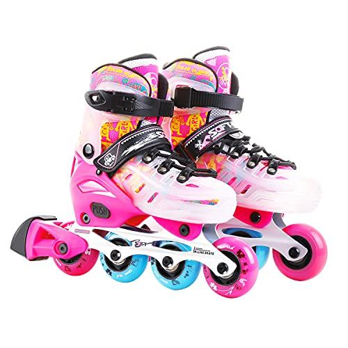HHD professionelle Inline-Skates Inliner Skates für Kinder/Jungen/Mädchen Rollschuhe Mit Leucht PU Räder Dreifach Schutz Leichte Rollerskates…