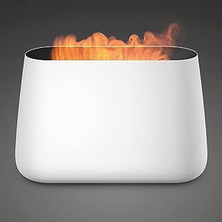 Stadler Form Luchtbevochtiger en aroma diffuser Ben, ultrasone vernevelaar voor ruimtes tot 25 m2, incl. haardvuur-look, wit