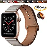 Chok Idea Innovative Cinturino in Vera Pelle Compatible with Apple Watch 38mm 40mm,Covert Buckle...