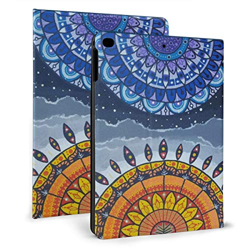 Galaxy Art Mandala Mandala Painting Sun And Moon Case For Ipad Mini 4/5 7.9 Inch Cover Protective Smart Trifold Stand Cover With Auto Sleep/Wake For Apple Ipad Tablet