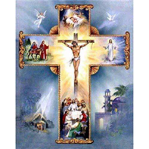 MAIYOUWENG Holzpuzzle 1000 Teile Christliches Kreuz Jesus Hohe Qualität Große Größe 1000 Teile Holzpuzzle, Einzigartige Hauptdekorationen Und Geschenke