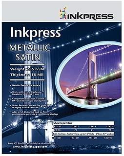 Inkpress Metallic Paper, 255 gsm, 10 mil, Metallic Satin Surface, 11x14