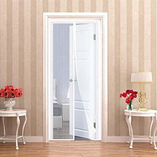 Zanzariera Finestra Magnetica, 70x215cm(28x85inch) Zanzariere Scorrevoli Chiudi Automaticamente Rete di Ottima qualità per Porte d'IngressoPorte Cortili-Bianco