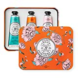 La Chatelaine Hand Cream Trio Tin Gift Set, Plant-Based, Made in France with 20% Organic Shea Butter (Gardenia, Orange Blossom , Rose Acacia, or Passion Fuit or Cherry Almond) 3 x 1 oz