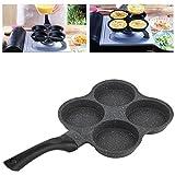 Jimfoty Cuoci Uova Padella, Alluminio Antiaderente Pancake a 4 Fori Frittata Uova Padella Pentola per friggere Macchina per la Colazione Utensile da Cucina Padella Multiuso