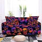 WXQY Funda de sofá Antideslizante elástica de Halloween con...