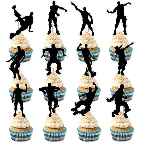 24 Stcke Spiel Thema Cupcake Toppers Party Favor Dance Floss Happy Birthday Kuchen Dekoration Spiel Partei Liefert