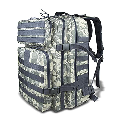 RatenKont 40L Military Tactical Bag Backpack Camping Hiking Trekking Travel Outdoor Sport Climbing Army Bag ACU 50-70L
