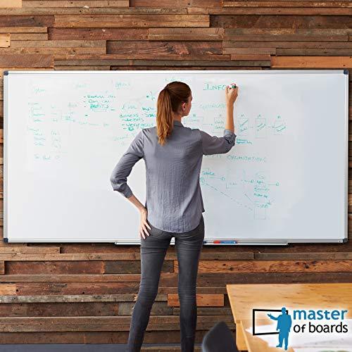 MOB Whiteboard – Sieger Preis-Leistung (Note 1,4) – 13 Größen – magnetisch und beschreibbar – Magnettafel Magnetwand – mit Aluminium-Rahmen, Stiftablage – für Hoch- und Querformat – 90 x 120 cm - 2