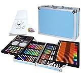 CHSEEO Suministros de Arte de Lujo, Creatividad Colorear Art Set Pintura y Dibujo Suministros Kit, Set Artistico Completo, Regalos para Niños, Estudiantes, Principiantes y Artistas