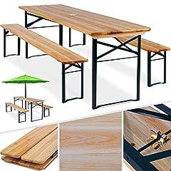 KESSER® 3 teilig Gartenmöbel-Set Klappbar