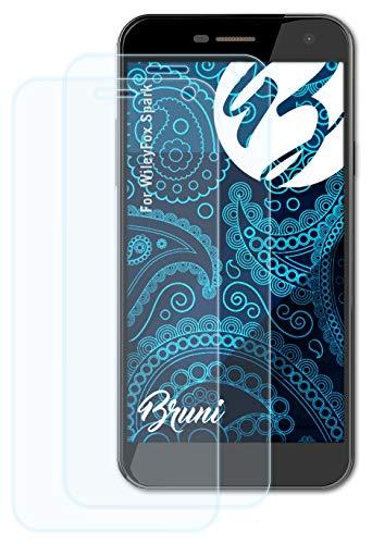 Bruni Schutzfolie kompatibel mit WileyFox Spark Folie, glasklare Bildschirmschutzfolie (2X)