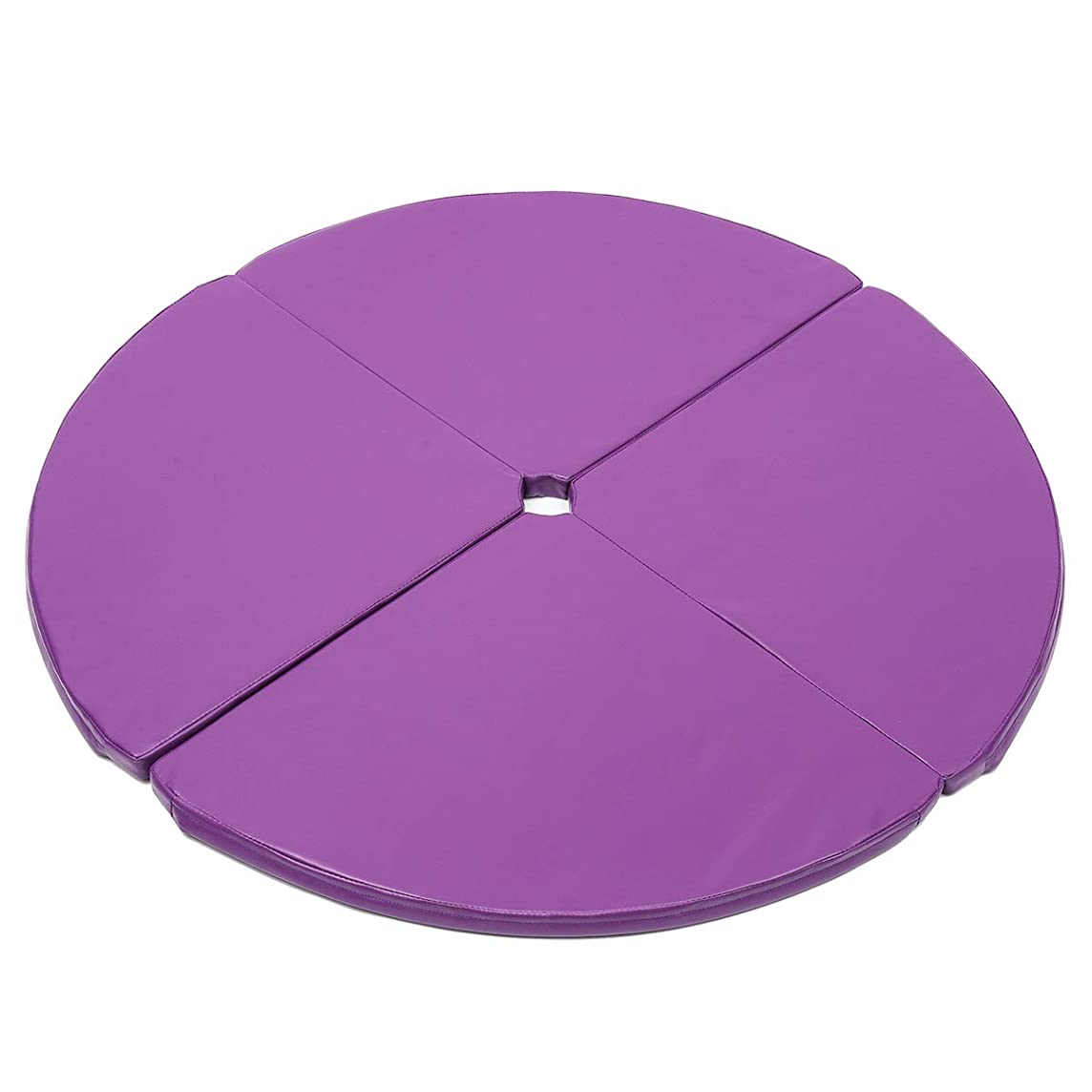 KingSo Pole Folding Crash Mat Fitness Cushion Yoga Exercise Steel Pipe Dance Mat Safety Padding, Diameter 47.24in