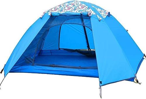 Sortie Udstyr, 3-4 Homme Tente Double Couche Sunscreen Imperméable à L'Eau Impression Famille Tente Tente de Camping en Plein Air Léger, Kejing Miao, TIGE D'ALUMINIUM