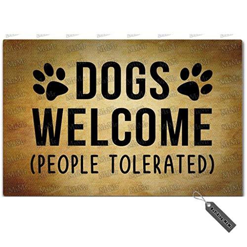 MsMr - Zerbino divertente per ingresso con cani e persone tollerate, in tessuto non tessuto, 45 x 50 cm