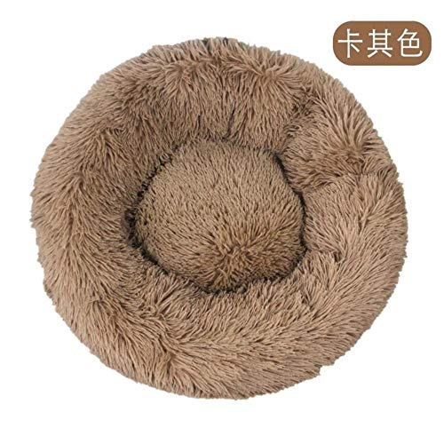 qingy Pet Dog Bed Long Plush Super Soft Pet Bed Kennel Round Dog House Cat Bed For Dogs Bed Cushion Big Large Mat Bench Pets Supplies,14,70cm