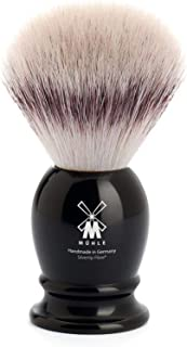 MUEHLE Shaving Brush with Fiber, Handle Material High Grade Resin Black, 1 Pound