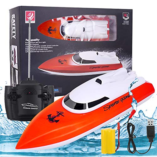 2020 Upgraded Remote Control Boat, High Speed 2.4GHz Remote Boat 180 Degree Auto Flip Recovery,Electric RC Boat Toys for Adults & Kids