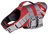 DOGHELIOS 'Splash-Explore' Outdoor Performance 3M Reflective and Adjustable Buoyant Safety Floating Pet Dog Life Jacket Vest Harness, Small, Red