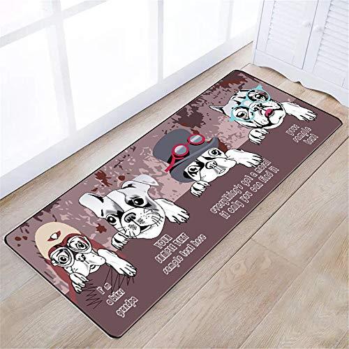 YUNSW Polyester Bodenmatte Küche Ölbeständige Fußmatten In Die Türmatte Boden Schlafzimmermatten Rutschfesten Waschbaren Teppich