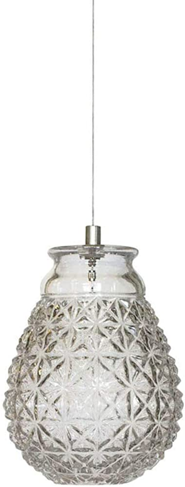 Karman ceraunavolta, lampada a sospensione a forma di g, in vetro trasparente SE1353S INT