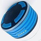 Dekka-Blue LED Shower Speaker, IPX7 Waterproof Portable Wireless 5 W Bluetooth 4.0 Speakers, Super Bass, HD Sound, Ideal Speaker for Holidays on The Beach, Pool, Car (Blue)