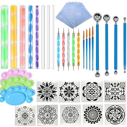 Juego de herramientas de arte de 41pcs Mandala Dotting Tools