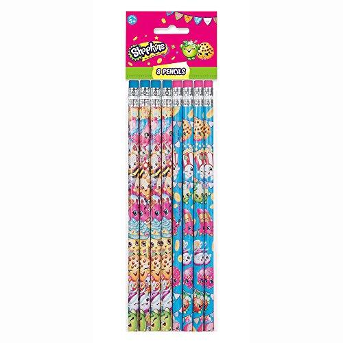 Shopkins Pencil Party Favors, 8ct