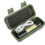 HITSAN INCORPORATION XANES 1518 XPE+COB 2Lights 1000Lumens 3Modes USB Rechargeable Brightness EDC LED
