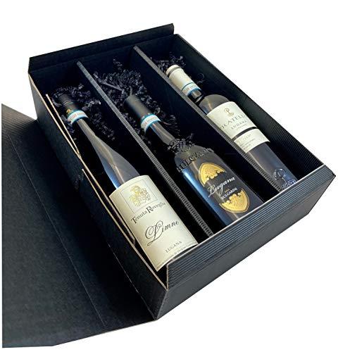 Geschenkset Lugana | 3 hochwertige Lugana in Geschenkverpackung | 3 x 0,75l | Weißwein aus Venetien | trocken