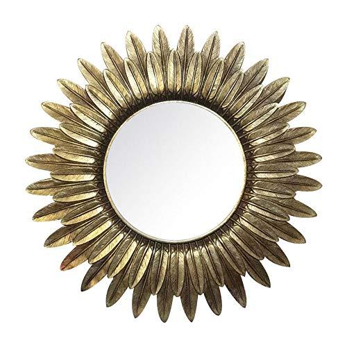 Bathroom mirror ALY Specchio A Parete Europeo Specchio del Bagno retrò Specchio di Vanità Casa Stile Country Americano Specchio da Barba Rotondo Specchio Arte 24 * 24in