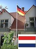 Fahnenmast Aluminium inkl. Niederlandflagge