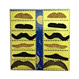 JINSUO NWXZU Falso Falso Beard-Divertente Barba Nera Halloween Party Cosplay Props Moustache di falsificazione Decorazioni for Adulti (Color : 12pcs Mixcolor)